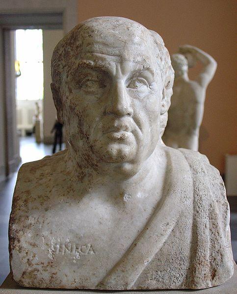 A bust of Seneca