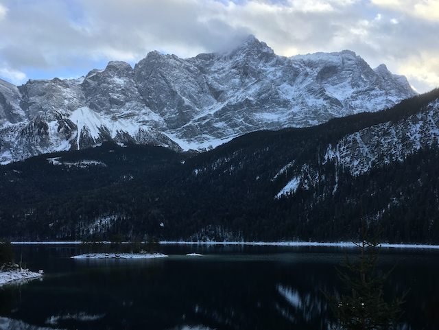 Zugspitze from the Eibsee